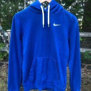 XS blue nike sweatshirt with white nike logo.